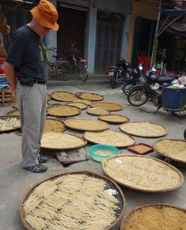Baskets of noodles at the Market