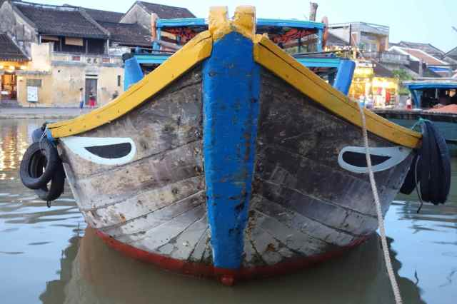 One of the many painted boats of Hoi An