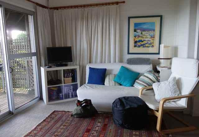 Living room at the Golden Beach Paradise of Whangaparaoa, New Zealand