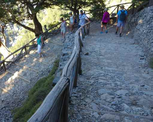 The trail started with paved steps