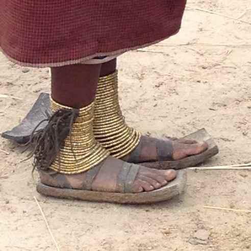 Barbaig woman's feet