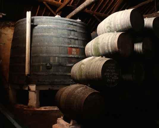 Sandeman's barrels of Port
