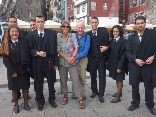 University of Porto students and us. We declined their kind offer to don the robes.