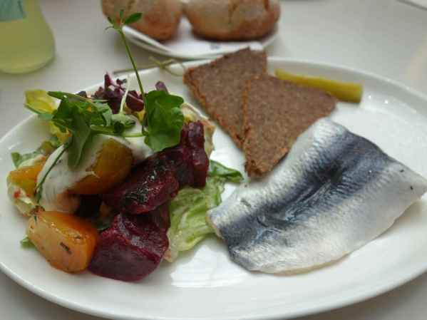 Beetroots and rollmops (herring)