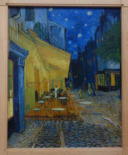 "The star detail was from ""Terrace of a Café at Night"", Vincent van Gogh, 1888"