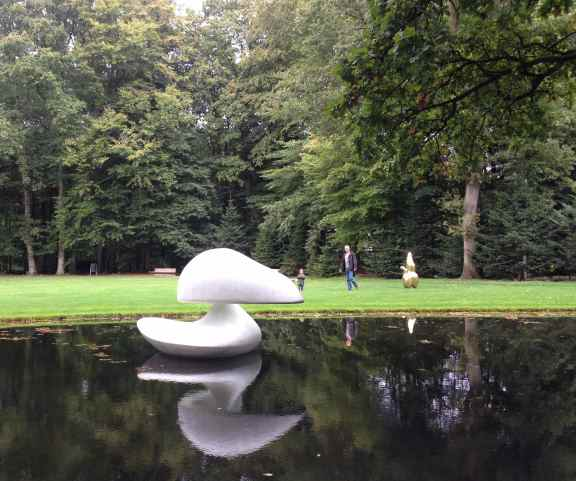 "We took so many photos of ""Sculpture flottante, Otterlo"" by Marta Pan (1960-1961) as it swirled around the little pond. Every turn gave a different view."