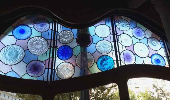 Stained glass on the front drawing room window