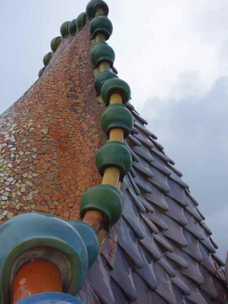 On the roof - the scales of the mythical dragon