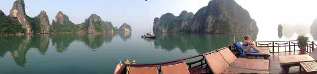 We took a memorable cruise on Ha Long Bay.