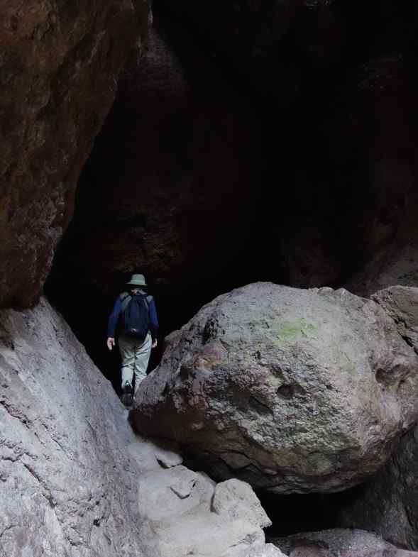 We continued to climb over and around boulders as we entered the cave.