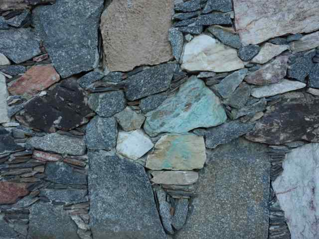 Random pattern and colors…of a stone wall, near the start of the Henderson Trail in Palm Springs.