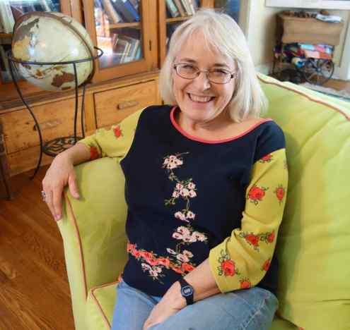 Jill, a native Californian, at home