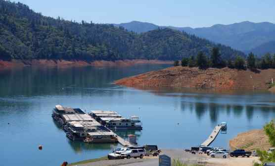 Why not have lunch looking out at Shasta Lake? The stunning blue water was serene as few boats were out that day.
