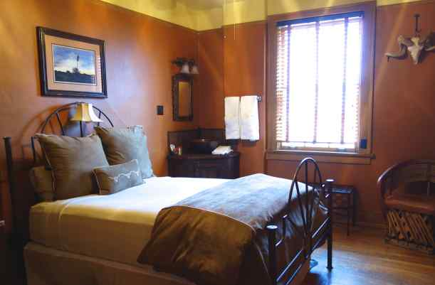 We stayed at the Gage Hotel, in Marathon, Texas – an old hotel built in 1927 by rancher Alfred Gage and designed by Henry Trost.