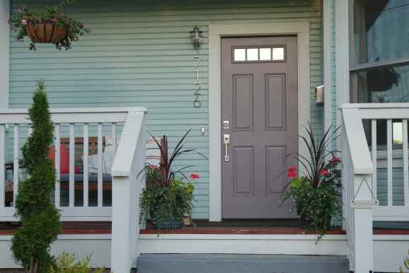 Many Saint John houses are on a modest scale with raised porches and gardens filling the small front yard. We appreciated the choice of paint colors on so many houses.