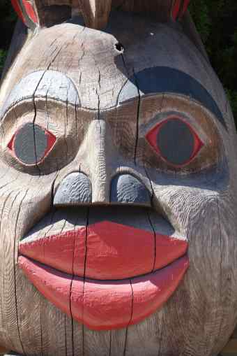 "The Eagle Spirit from the ""Raven Stealing the Sun"" Totem by Donald Smith of the Qw'umiyiqun and Quw'utsun' Tribes"