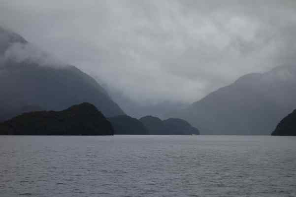 """We cruised in Doubtful Sound, first named """"Doubtful Harbor"""" by Captain Cook."""