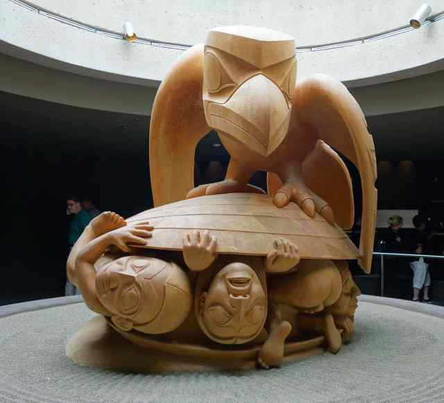 """The Raven and the First Men"" by Bill Reid, 1920-1998, Haida Nation"