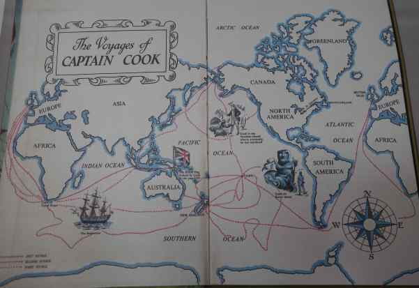 We ticked off all the places we'd still need to travel to keep up with Captain Cook while we studied the map at the visitor center.