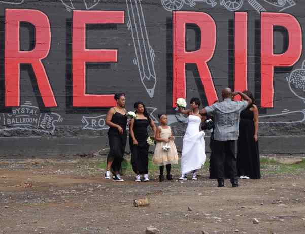 """""""RIP CITY"""" is a basketball nickname for Portland, Oregon. The bridal party, in their high top Converse shoes, carried out the sports theme with beauty and plenty of Portland style."""