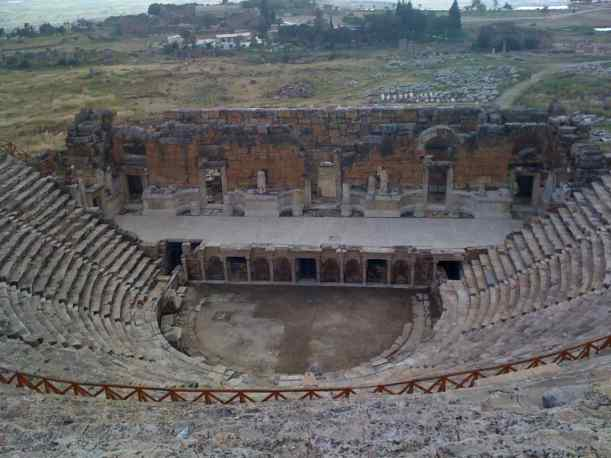 The theatre of Hierapolis, now located in Pamukkale, Turkey - built in the 2nd Century A.D., seating capacity 15,000.