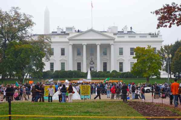 Demonstrators appeared on Pennsylvania Avenue. Who were they?