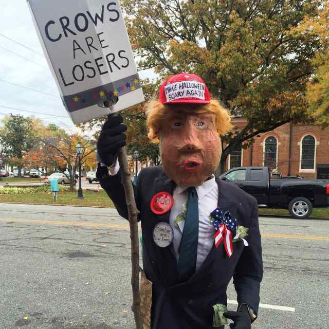 MARYLAND – Chestertown. In the old town we ran into a familiar figure standing on the sidewalk, Donald Trump.