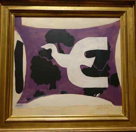 "We often observe birds, and this bold one has yet to migrate. ""Bird"" by Georges Braque, 1956."