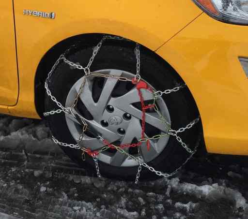 We thought the chains added an interesting decorative touch to our new car.