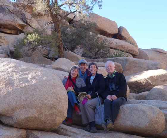 Four friends enjoying Joshua Tree National Park