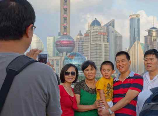 Shanghai, China on The Bund