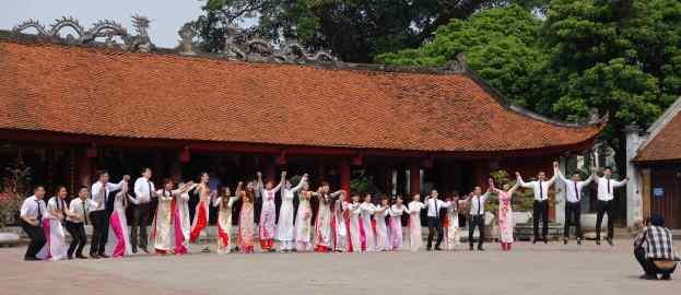 Hanoi, Vietnam for graduation at the Temple of Literature