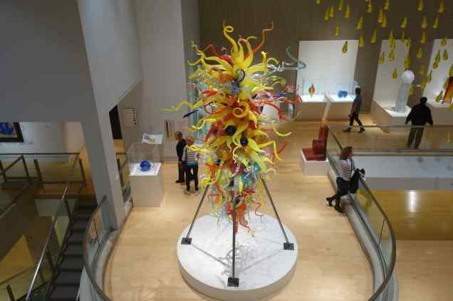 """""""End of the Day #2"""" by Dale Chihuly, 1996 at The Palm Springs Art Museum"""