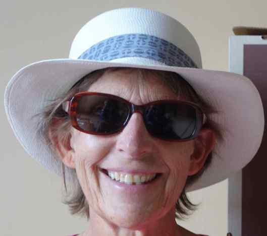 And Beth decided her 20+ year old Tilley hat is still fine for hiking trips, but this style Panama hat suited her. She had the store change the hatband from black to grey, and then it was perfect.