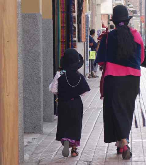Felt hats are popular for traditionalists like this mother and daughter.