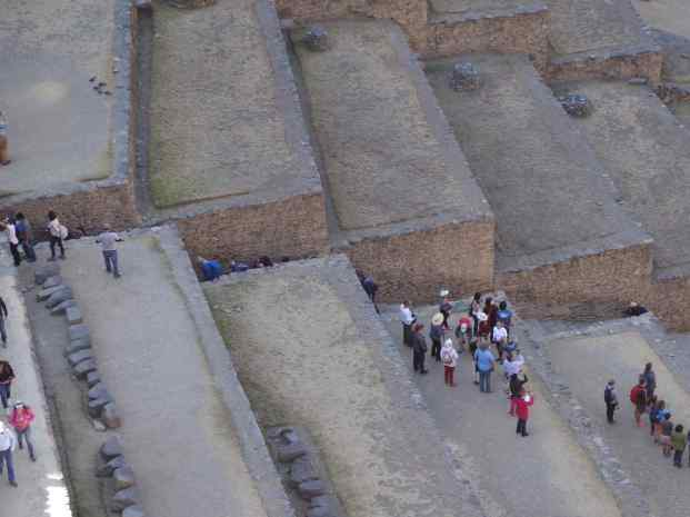 We read later that all Inca terraces are not used in the same way. The terraces on the religious Temple hillside were so massive they were called the Fortress.