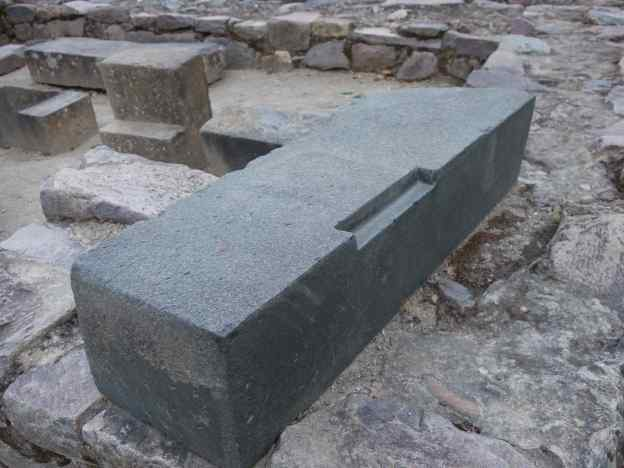 Any notion that all Inca building blocks are perfectly rectangular was dashed when we saw this large stone with a notch.