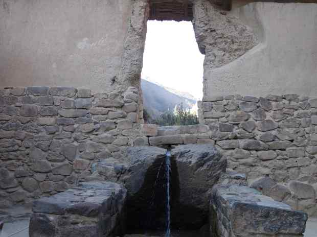 Nearby, the impressive Templo de Agua, with water still flowing.