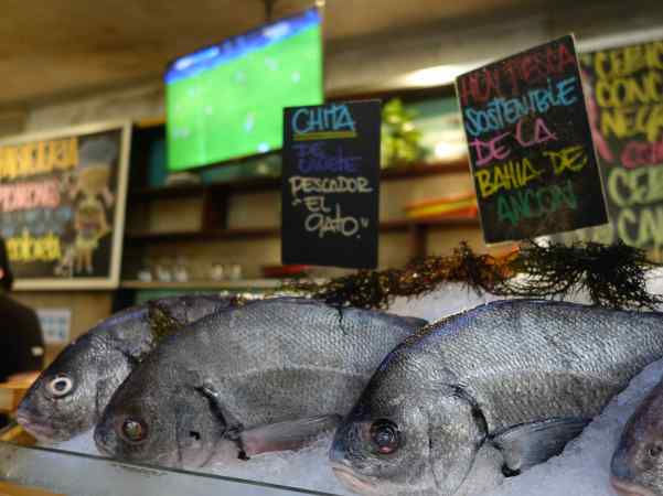 We also ate at La Mar twice. The first time we enjoyed sitting at the seafood bar where we watched the finishing touches added to dishes before they were served – at the same time watching Euro Cup soccer on the TV monitor. Great food in a relaxed setting!