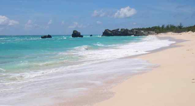 No one else was on the fine pink sand beach in Bermuda when we arrived. The water temperature was perfect in early September, and we still remember the colors of the water and sky. This is a beach for luxurious relaxation.