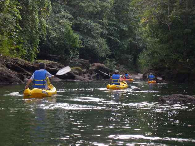 We spent an afternoon kayaking on the river at La Paloma Lodge in Costa Rica.