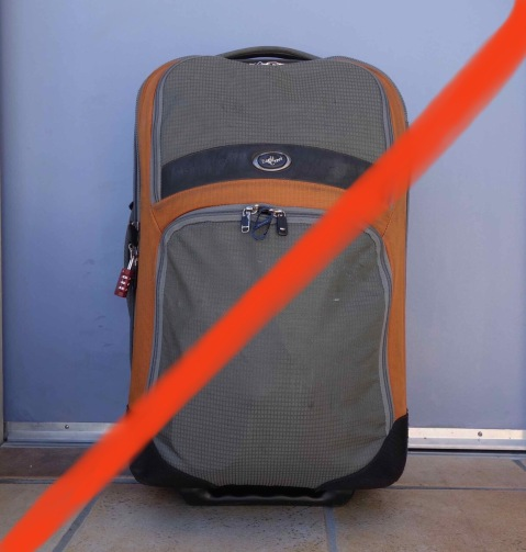 The heavy baggage we're talking about is not a suitcase. THAT we could do something about.